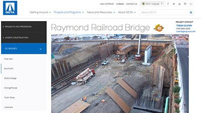 Raymond Railroad Bridge Client Page